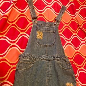 A never worn Forever 21 Denim overall dress